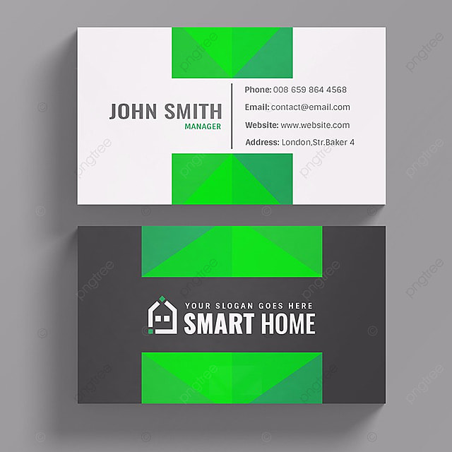 Smart Home Business Card Template For Free Download On Pngtree