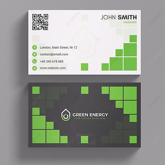Green energy business card template for free download on pngtree green energy business card template reheart