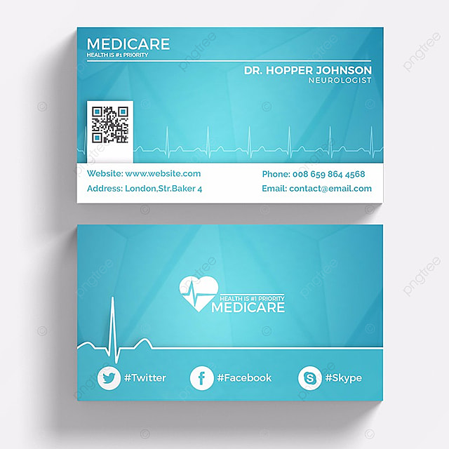 Medical business card template for free download on pngtree medical business card template wajeb Image collections