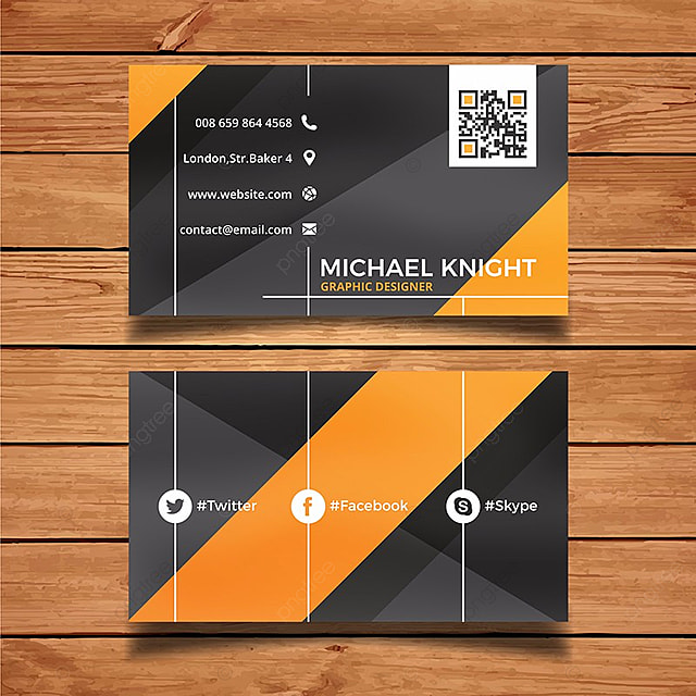 Yellow and black business card template for free download on pngtree yellow and black business card template reheart Images