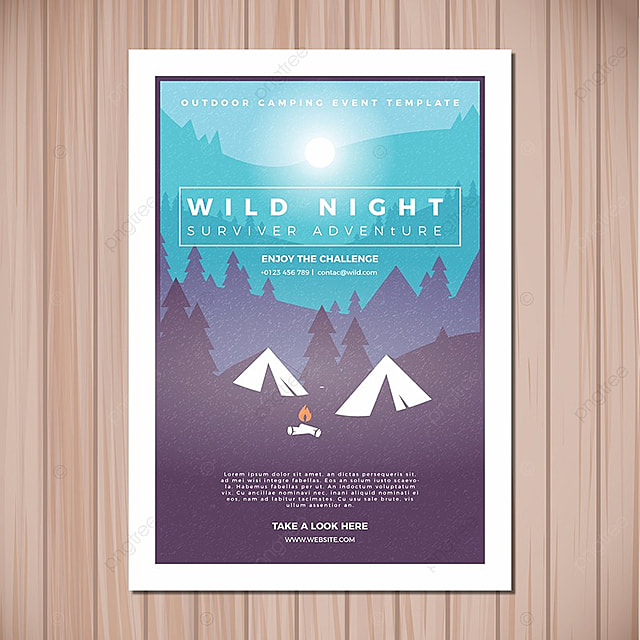 camping flyer template template for free download on pngtree