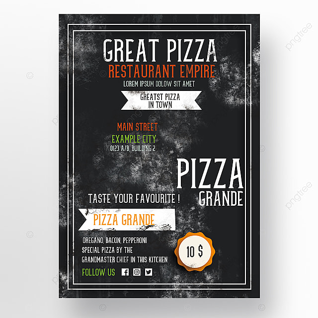 Pizza Restaurant Flyer Template Template For Free Download On Pngtree