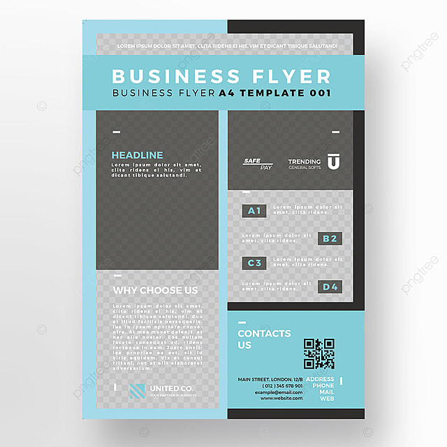 Blue Agency Flyer Template Template For Free Download On Pngtree