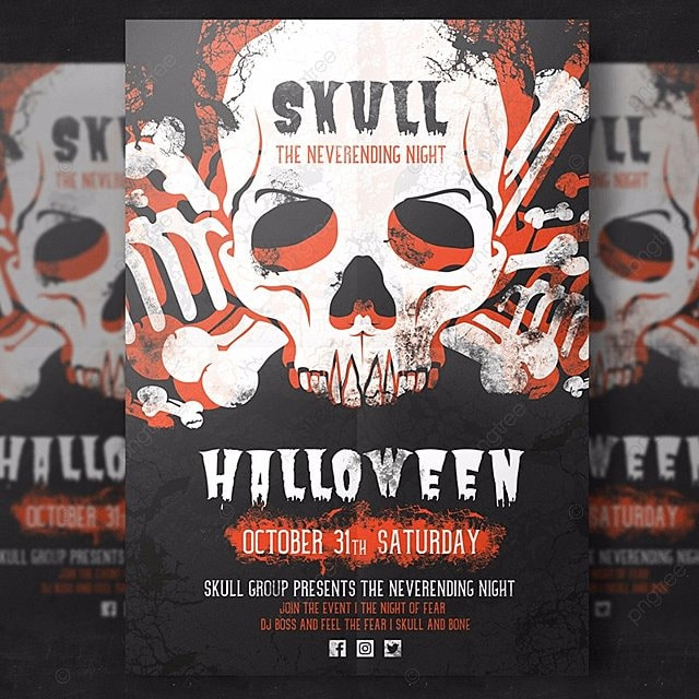 halloween flyer template template - Free Halloween Flyer Templates
