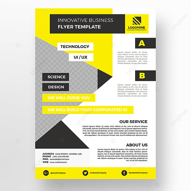 Yellow Corporate Flyer Template Template For Free Download On Pngtree