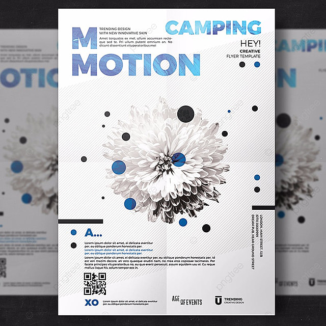 motion flyer template template for free download on pngtree