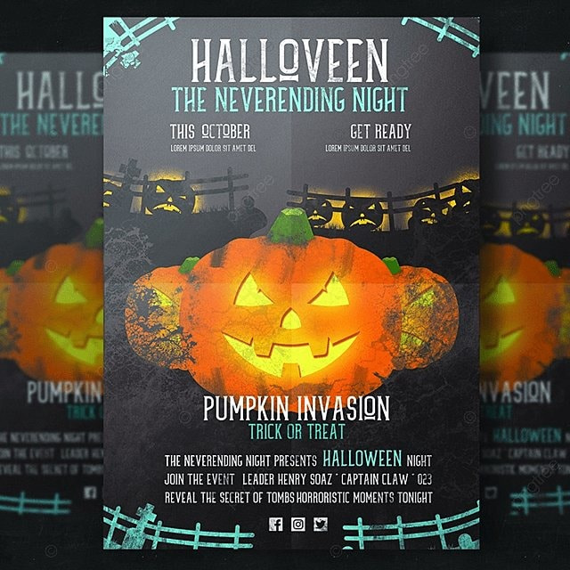Pumpkin Flyer Template Template For Free Download On Pngtree