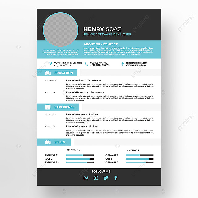 Creative Resume Template Cv PNG And PSD