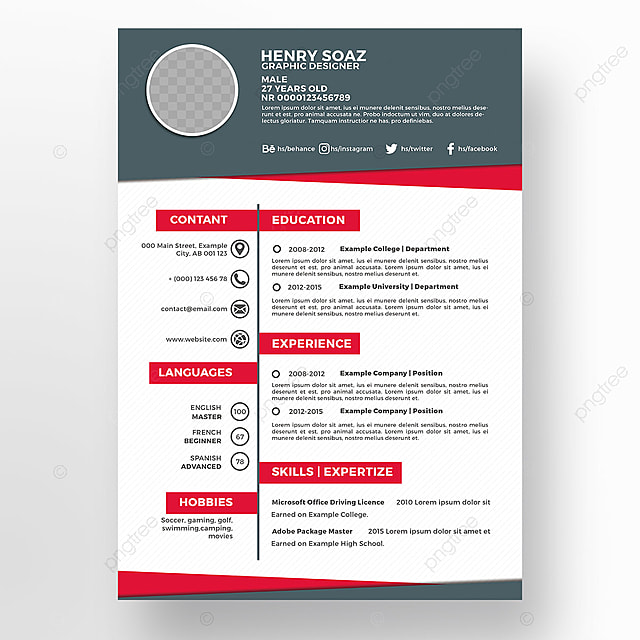 Creative Resume Template Business Cv Job PNG And PSD