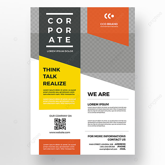 minimal business flyer template template for free download on pngtree