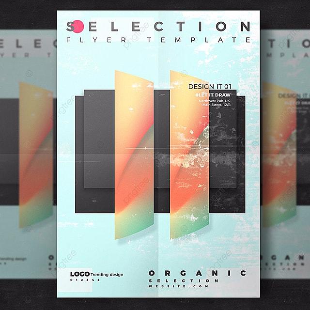 Gut gemocht abstract artistiques flyer modèle Template Téléchargement gratuit  OJ84