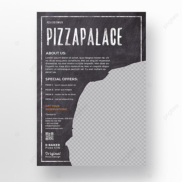 pizza flyer template template