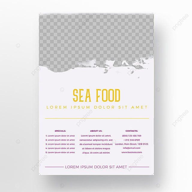 Sea Food Flyer Template Template For Free Download On Pngtree