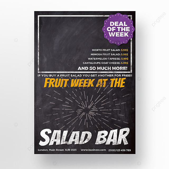 Salad Bar Flyer Template Template For Free Download On Pngtree