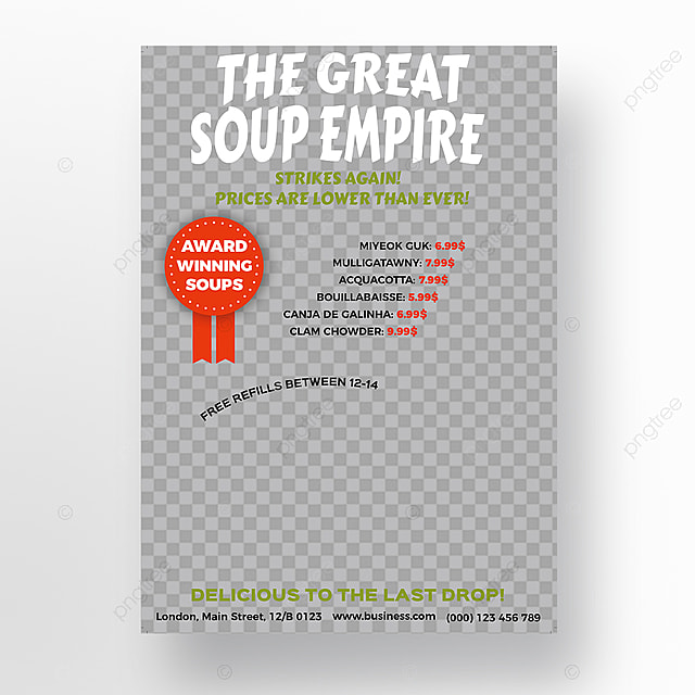 Soup Bar Flyer Template Template For Free Download On Pngtree