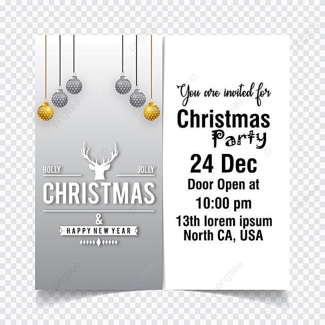 Tarjeta De Invitacion De Navidad Con Luz Gratis Descarga