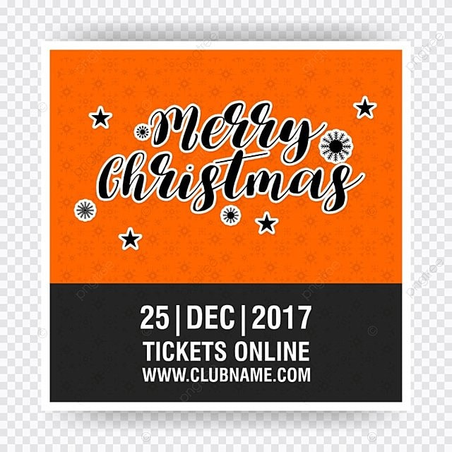 merry christmas ticket template for free download on pngtree