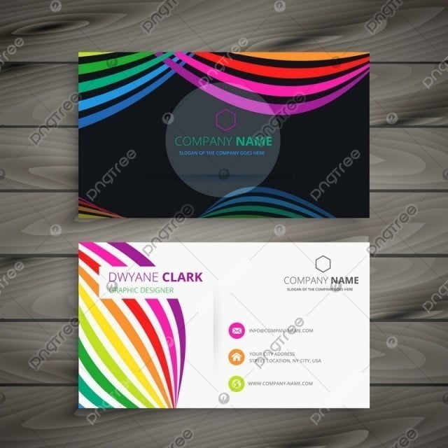 Abstract color business card design template vector illustration abstract color business card design template vector illustration modelo reheart Choice Image
