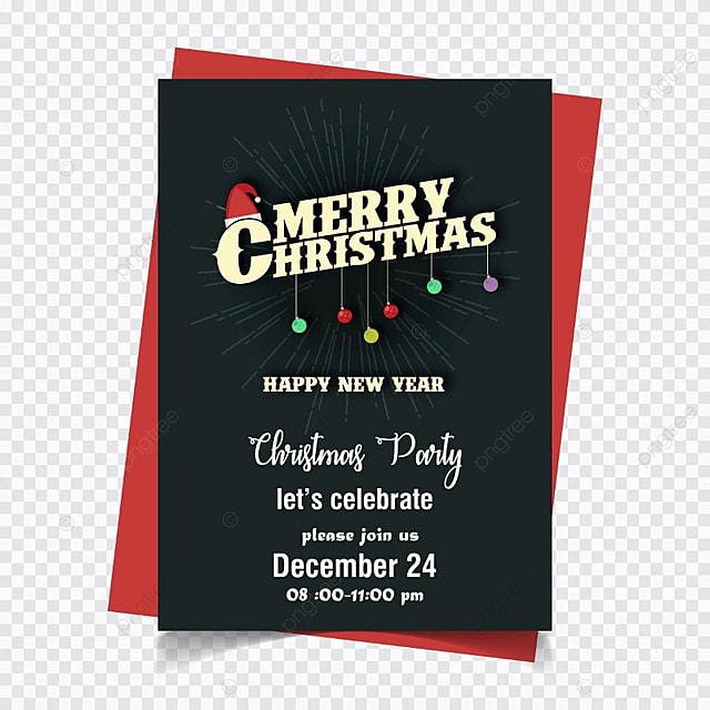 Tarjeta de invitacion de Navidad Descarga gratuita de plantilla en ...
