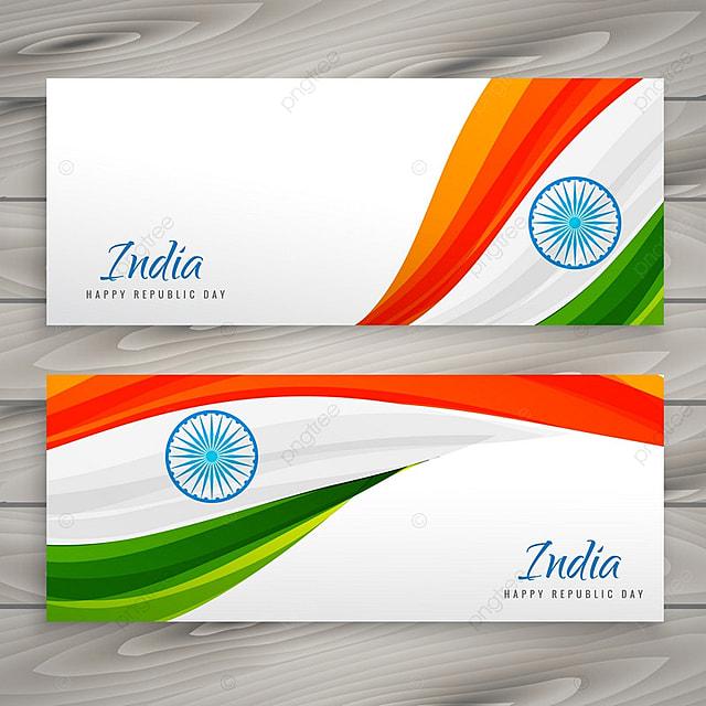 indian flag banner vector design illustration template for free