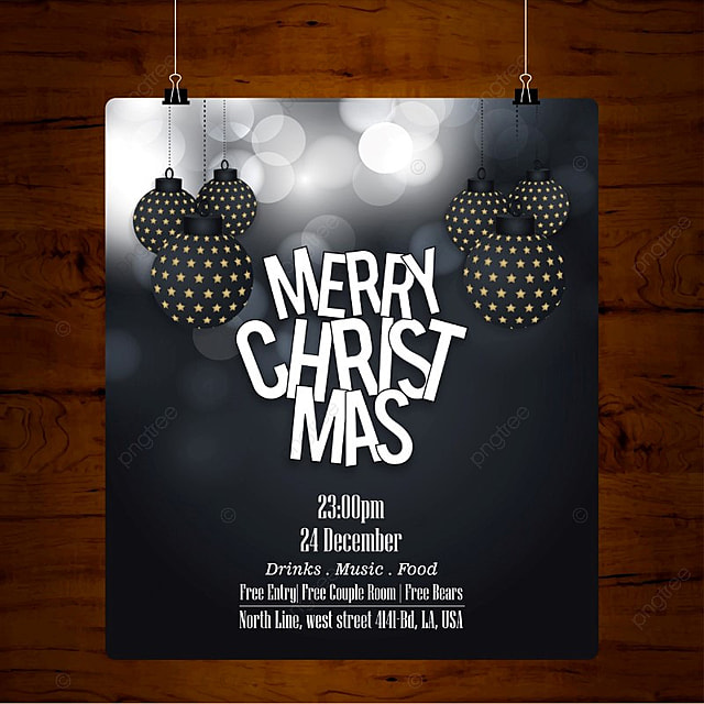 glowing black christmas card template for free download on pngtree
