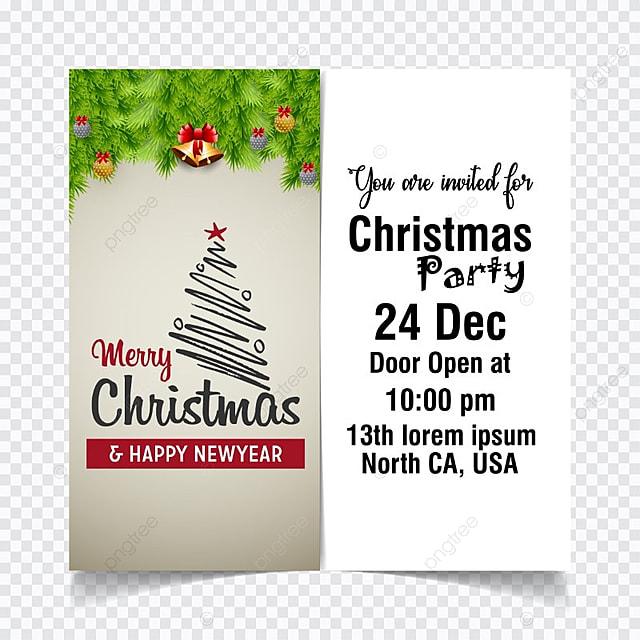 Luz de navidad tarjeta de invitación Descarga gratuita de plantilla ...