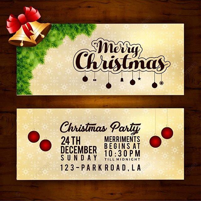 Cartão De Convite De Natal No Fundo De Madeira Modelo Para Download