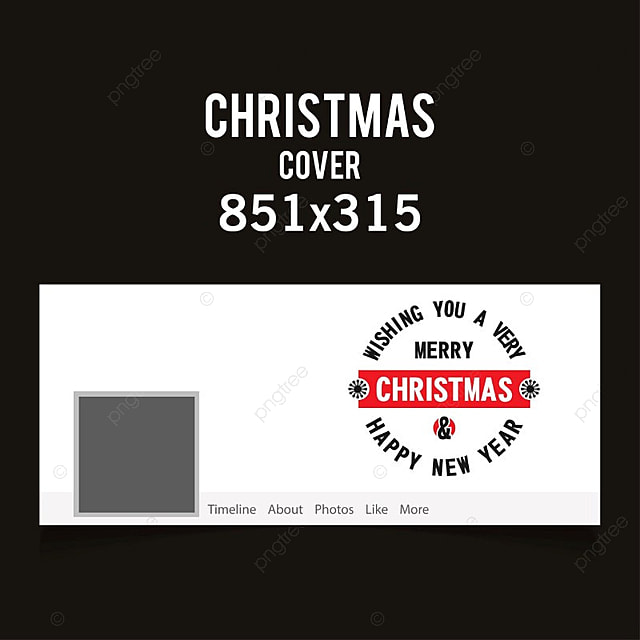 Christmas Facebook Cover In White Color With Creative Typography On