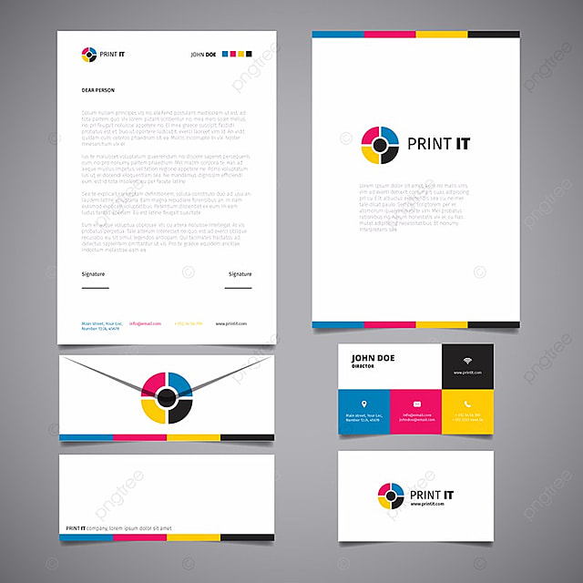 bright corporate stationery template template