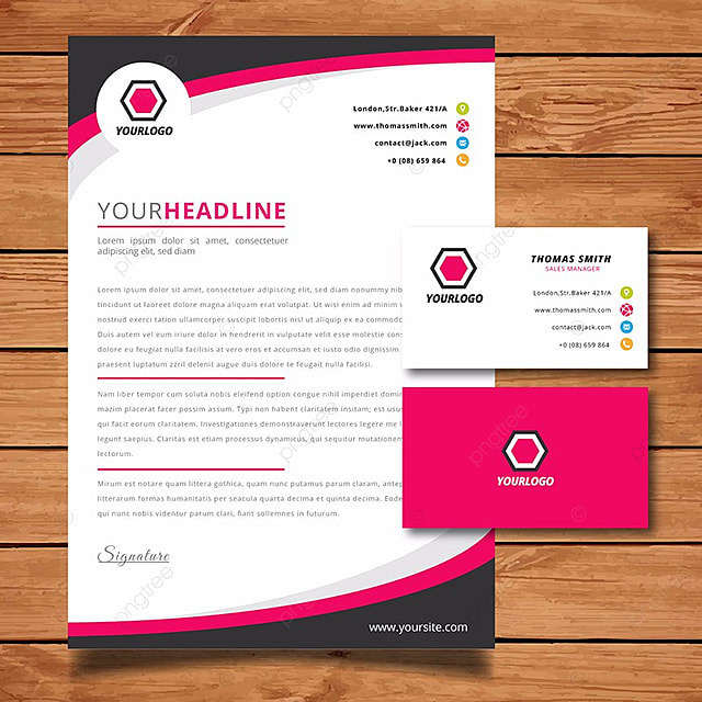 purple corporate stationery template template for free download on
