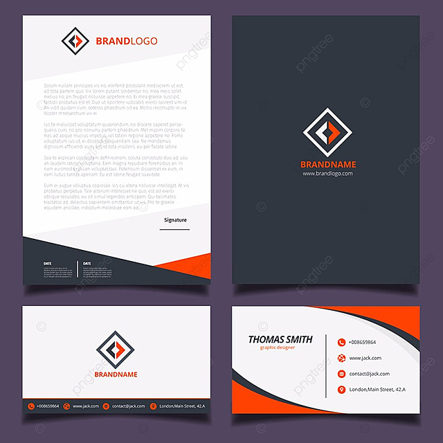blue corporate stationery template template