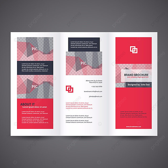 red business brochure template template