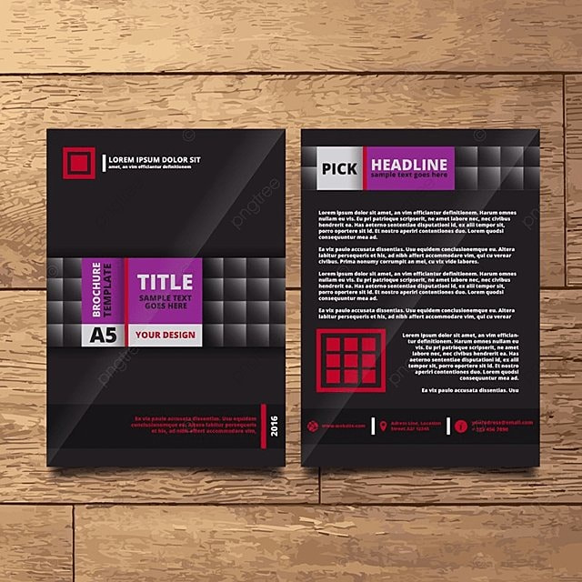 Black Business Brochure Template Template For Free Download On Pngtree
