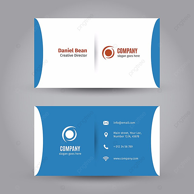 Blue Business Card Template Template Free Download On Pngtree - Sample business card templates