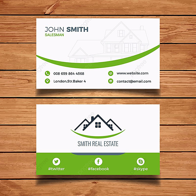 Modern real estate business card template » free download » re00001.