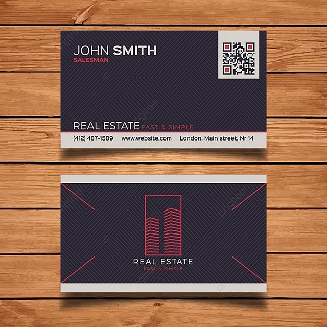 Real Estate Business Card Template Template For Free Download On Pngtree