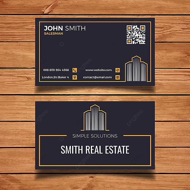Real estate & property business card template » free download.