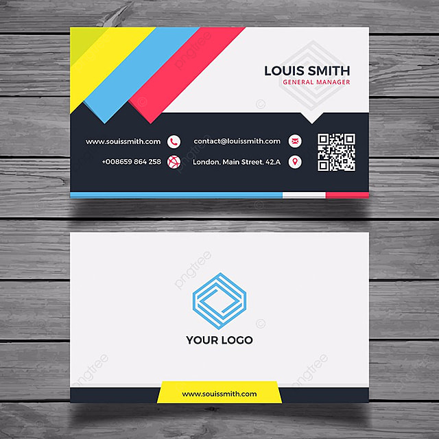 Colorful business card template modelo para download gratuito no pngtree colorful business card template modelo reheart Gallery