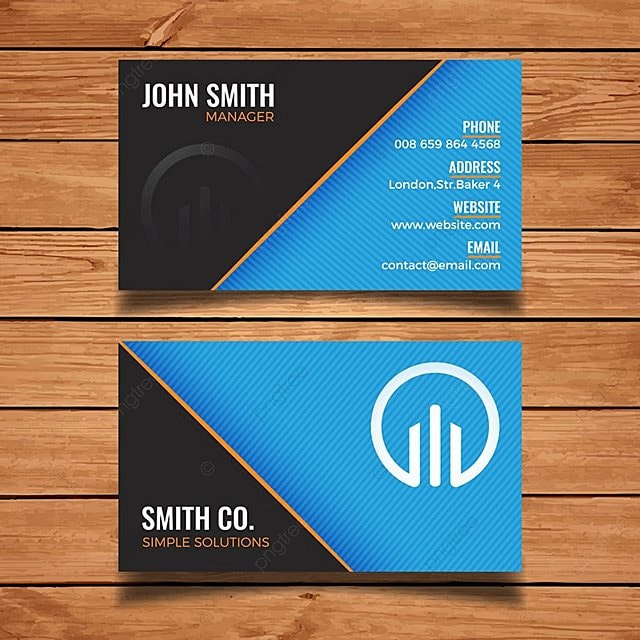 Black and blue business card template template for free download on black and blue business card template template cheaphphosting Gallery