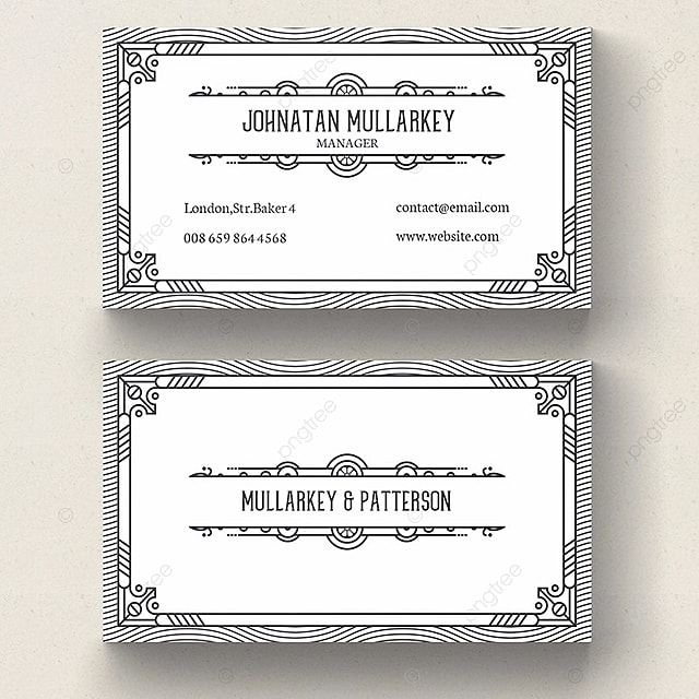 Vintage business card template template for free download on pngtree vintage business card template template wajeb