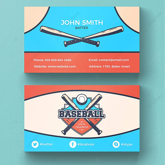 Baseball business card template template for free download on pngtree baseball business card template template wajeb Images