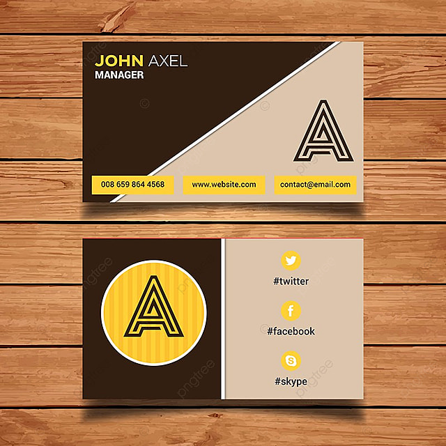 monogram business card template template for free download on pngtree