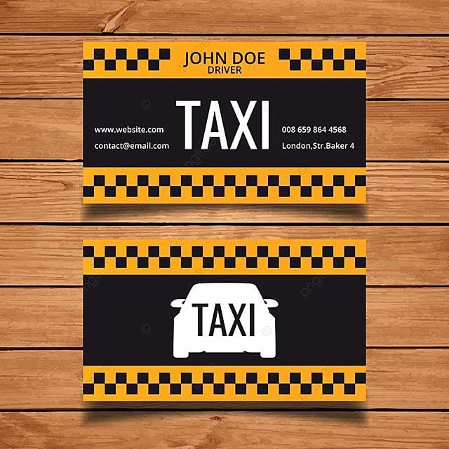 Taxi plantilla de tarjeta de negocio Descarga gratuita de plantilla ...