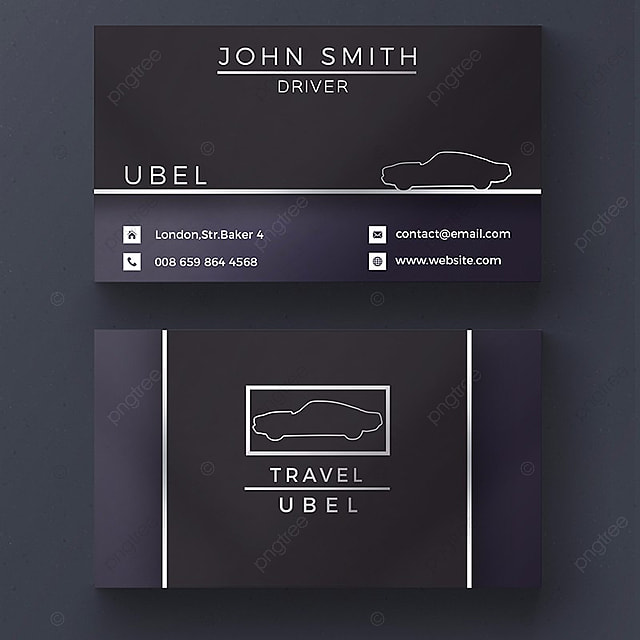 Black Uber Business Card Template
