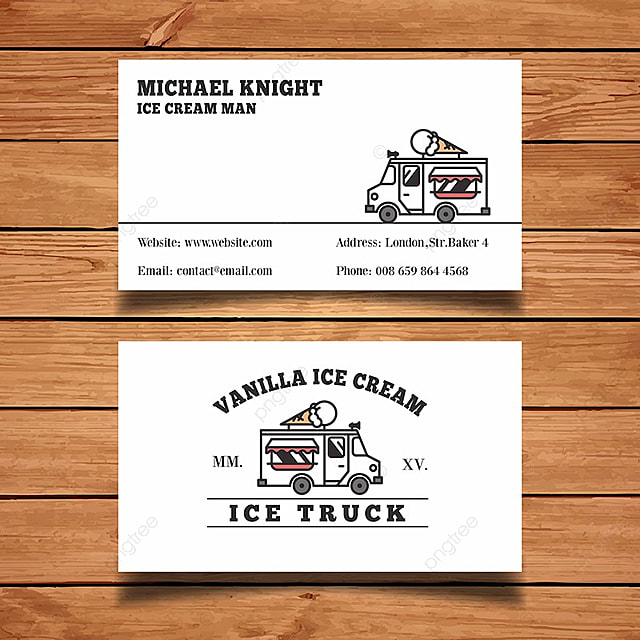 Ice cream business card template template for free download on pngtree ice cream business card template template wajeb