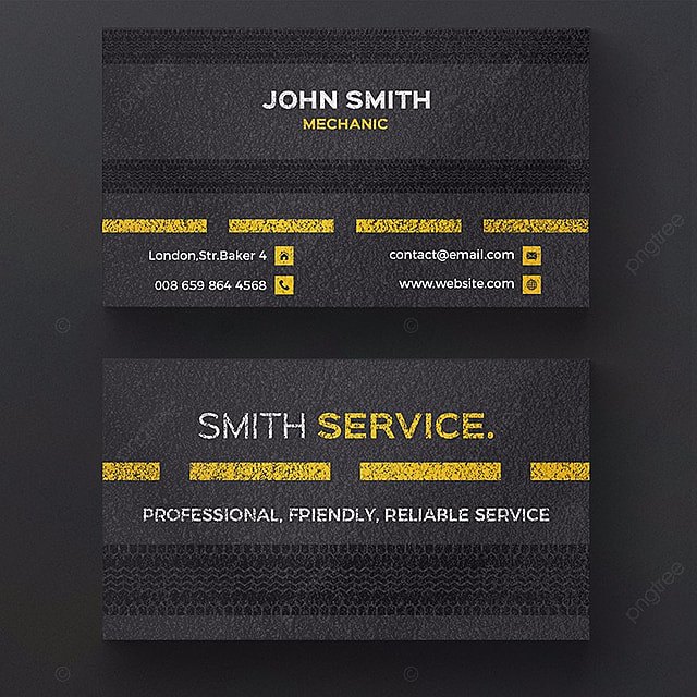 Mechanic Business Card Template Template Free Download On Pngtree - Mechanic business cards templates free