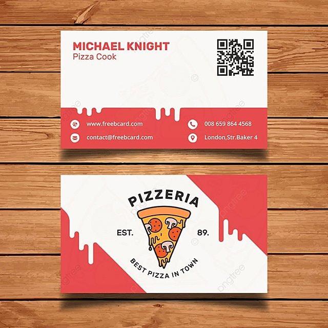 Pizza plantilla de tarjeta de negocio Descarga gratuita de plantilla ...