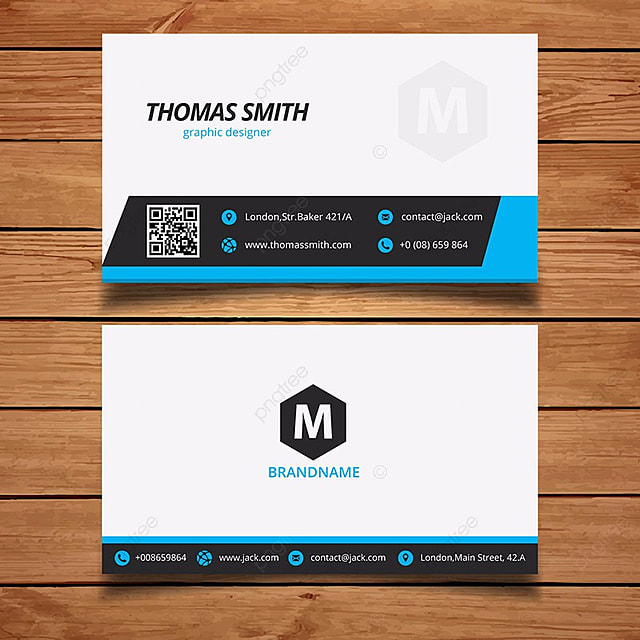 Blue Minimal Business Card Template Template For Free Download On
