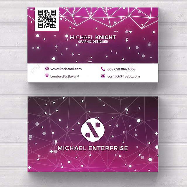 technology business card template template for free