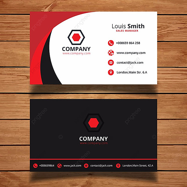 Red Business Card Template Template For Free Download On Pngtree